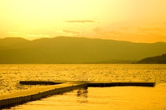 Sunset at Lake Chelan royalty free stock images
