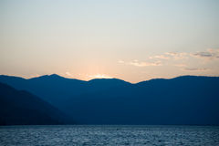 Sunset at Lake Chelan Stock Photography