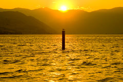 Sunset at Lake Chelan Royalty Free Stock Images