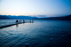 Sunset at Lake Chelan. In Eastern Washington Stock Photos