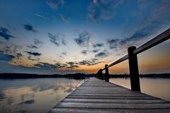 Sunset at lake Chiemsee Royalty Free Stock Photography