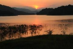 Sunset at lake Royalty Free Stock Images