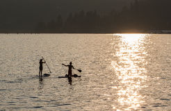 Sunset on Lake Coeur d'Alene Stock Photo