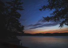 After Sunset on the Lake Royalty Free Stock Photo