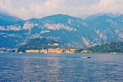 Sunset on lake Como. Sunset in Bellagio, lake Como, Italy Stock Photos