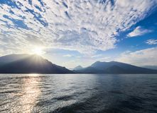 Sunset on Lake Como in Italy Stock Images