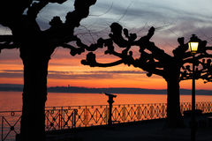 Sunset at Lake Constance Stock Images
