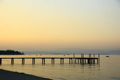Sunset at Lake Garda Stock Image