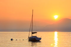 Sunset on Lake Garda Stock Photos