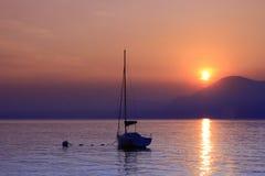 Sunset on Lake Garda, Italy Stock Images