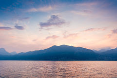 Sunset at Lake Garda Stock Photos