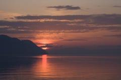 Sunset on Lake Geneva, Switzerland Stock Image
