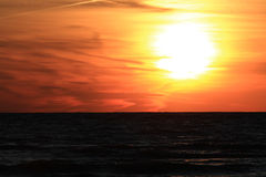 Sunset on Lake Huron Royalty Free Stock Image