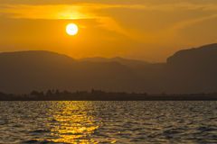Sunset on Lake Inle Stock Images
