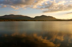 Sunset. On a lake in killarney Stock Image