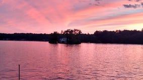 Sunset on the Lake. Kinderhook Lake Sunset Stock Images