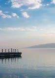 Sunset on Lake Kinneret near the town of Tiberias. Israel Royalty Free Stock Photos