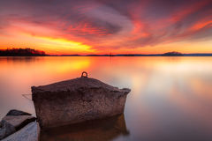 Sunset on lake lanier, north georgia stock photography