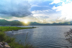 Sunset at lake. Lautawar truly beautiful lake while afternoons Royalty Free Stock Photography