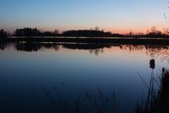 Sunset at lake Royalty Free Stock Image
