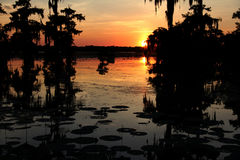 sunset on lake martin Stock Image
