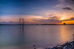 Sunset at lake Stock Photo