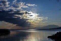 Sunset on Lake Stock Image