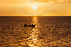 Sunset lake Nicaragua Royalty Free Stock Photos