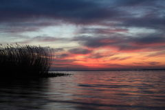 Sunset. Lake  in the night, sunset Stock Photography