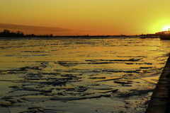 Sunset in Lake Ontario Royalty Free Stock Photography
