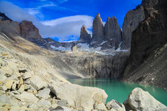 The Three Towers at Torres del Paine National Park royalty free stock photo