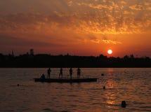 Sunset At Lake Pfaffikon royalty free stock photography