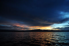 The sunset and the lake. Phayao, Thailand Royalty Free Stock Photo