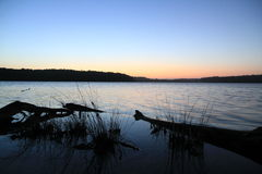 Sunset at the lake Royalty Free Stock Photography