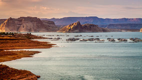 Sunset on Lake Powell Royalty Free Stock Photos