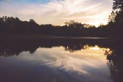 Sunset On A Lake Stock Photography