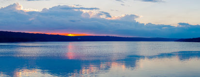 Sunset on a lake Stock Image