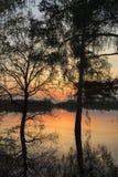 Sunset on the lake. Stock Image