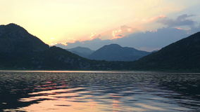 Sunset on Lake Skadar stock footage