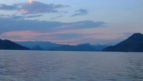 Sunset on Lake Skadar stock video