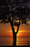 Sunset on lake st louis. Summer time sunset in Lachine qc Royalty Free Stock Photography