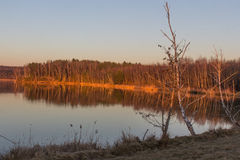 Sunset at the Lake, Steinberger See, Bavaria Stock Photos