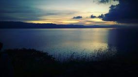 Sunset on the lake. Sunset, lake, beautiful lake, vast lake, afternoon on the lake, beautiful view on the lake, lake in the afternoon, vacation on the lake stock photos