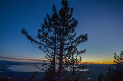 Sunset at Lake Tahoe. California Royalty Free Stock Image
