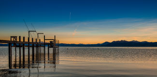 Sunset Lake Tahoe. In the summer Stock Photography