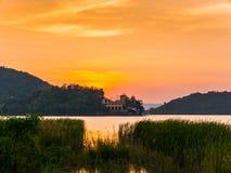 Sunset on the lake. Taken from Silver Lake Pattaya, Thailand Stock Images
