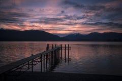 Sunset, Lake Te Anau Royalty Free Stock Photos