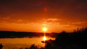 Sunset on lake, timelapse. Sunset on lake, time- lapse stock video footage