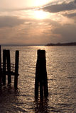 Sunset on Lake Trasimeno in Umbria Royalty Free Stock Photography