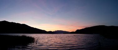 Sunset lake view Royalty Free Stock Photography